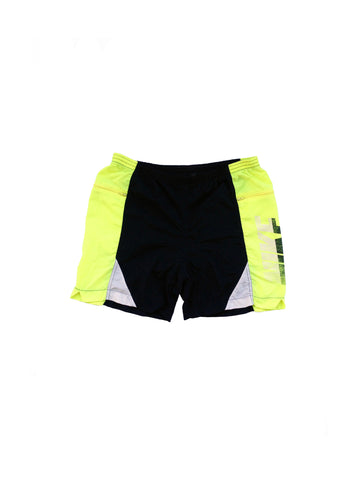 SOLD - Rare 80s Nike Neon Highlighter Yellow Cycling Shorts - 30 to 32