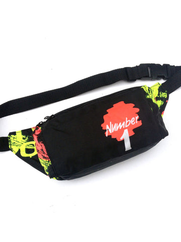 SOLD - Wild 80s Neon Number 1 Abstract Fanny Pack - 24 to 30