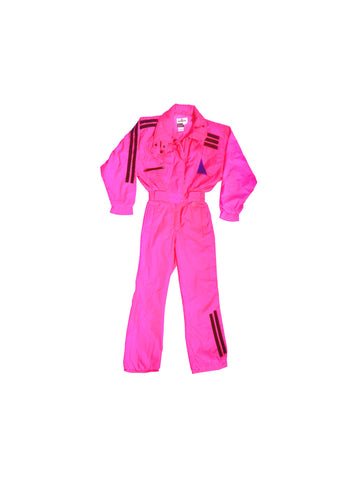 SOLD - Rad 90s Obermeyer Ultra Hot Pink Snow Suit - 8 / S-M