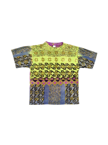 SOLD - Beautiful 80s Ocean Pacific Allover Tribal Surf T-Shirt - L / XL