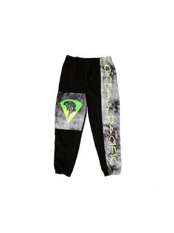 Rad 80s Ocean Pacific Marble Neon Snowboard Pants - 36 to 38