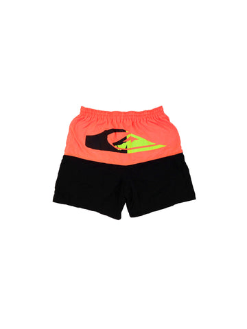 SOLD - Rad 80s Quiksilver Neon Orange Swim Trunks