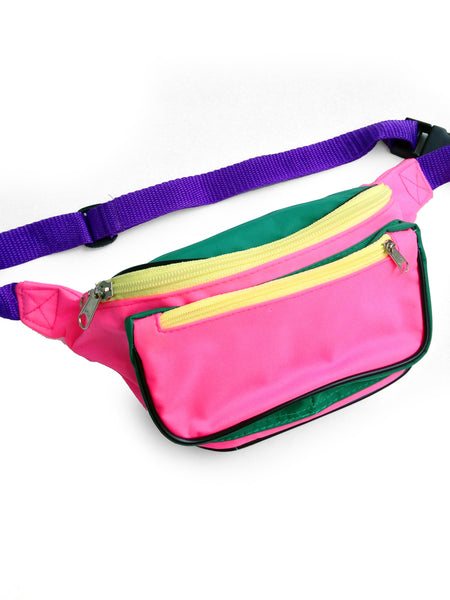 SOLD - Stellar 80s Quad Color Block Fanny Pack - 24 to 36