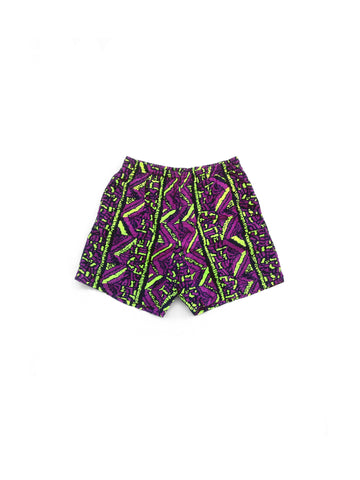 SOLD - Rare 90s Pacific Coast Highway Neon Tribal Hulk Swim Trunks - 28 to 36