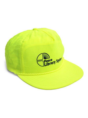 Nerdy 80s Neon Peace Library System Snapback Cap