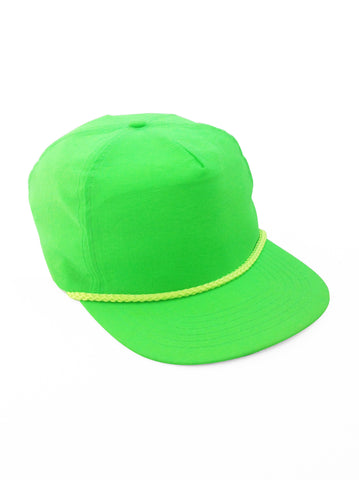 Glowing 80s Neon Green w/ Yellow Accent Snapback
