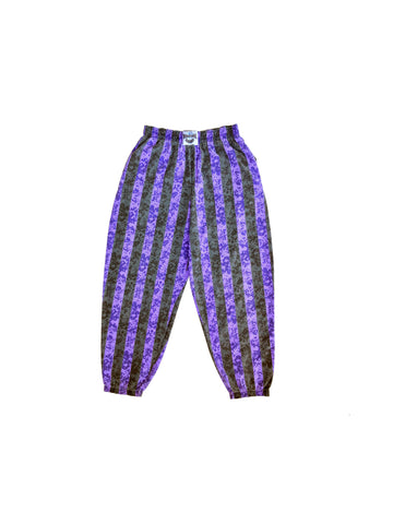 SOLD - Purple Static & Stripes International Baggyz Workout Pants - 32 to 42