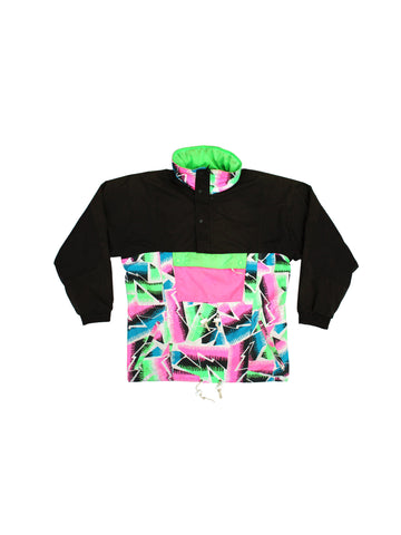 SOLD - Rad 90s 'Not So Bad' Abstract Snow Surf Snowboard Parka - L