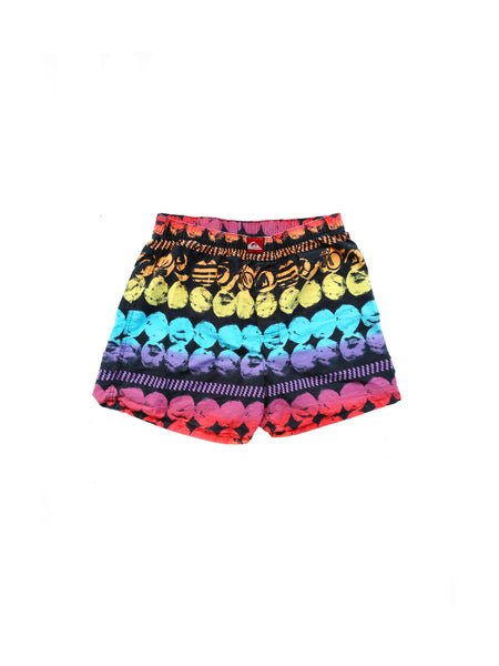 SOLD - Rare 80s Quiksilver Rainbow Tribal Boxer Style Shorts - 30 to 34