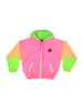 SOLD - Wild 80s Neon Raisins Triple Tone Windbreaker - S