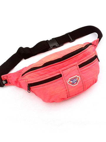 SOLD - Rad 90s Neon Salmon Rear Gear Fanny Pack - 26 to 40