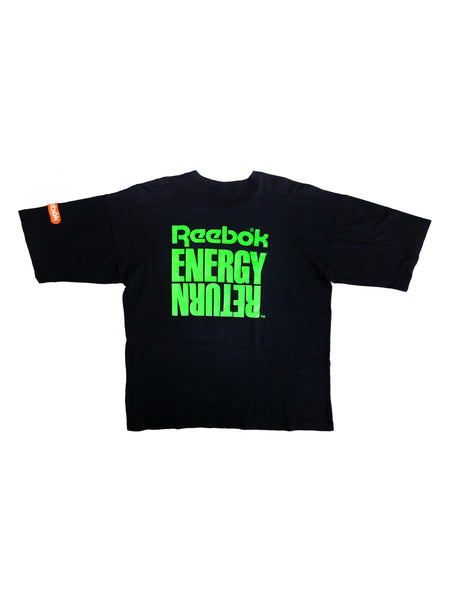 Soft 80s Neon Reebok Energy Return 50/50 T-Shirt - XL