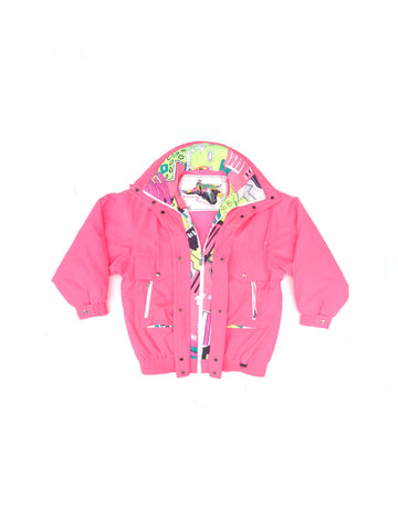 SOLD - Rad 80s Neon Rodeo Heavy Snowboarding Parka - L