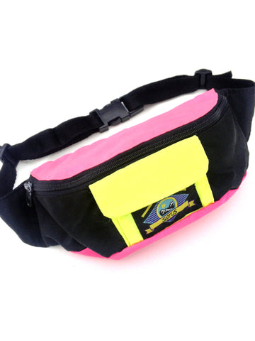 SOLD - Rad 90s Dual Neon Serus Fanny Pack - 24 to 34