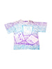 Soft 80s Rad Skateboard Aqua Purple Gradient Static T-Shirt - M