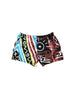 Rare 80s Neon Speedo Surf Hieroglyphics Cotton Shorts - 36 to 42