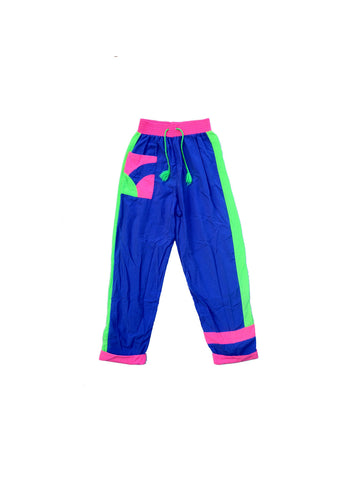 SOLD - 80s/90s Neon Accented Sporting Life Pants - 24 to 30