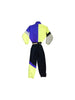 SOLD - Intense 90s Italian Neon Striped Out No Doubt Ski Suit - M