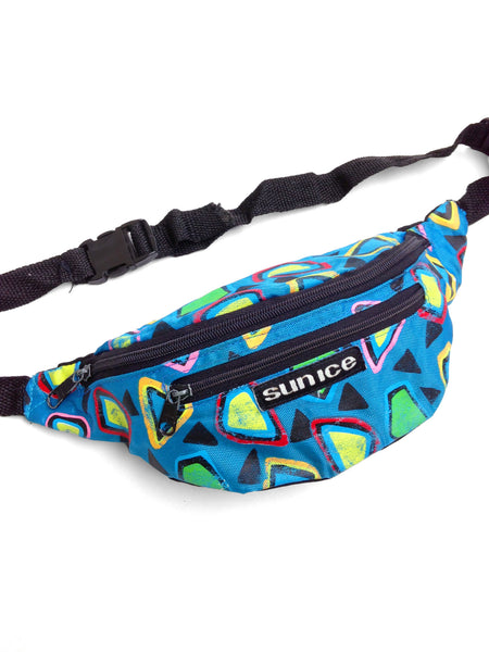 Rare 90s Neon Sun Ice Memphis Design Style Fanny Pack - 24 to 36