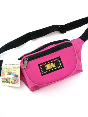 SOLD - Deadstock 80s Bright Magenta TA Fanny Pack - 24 to 42