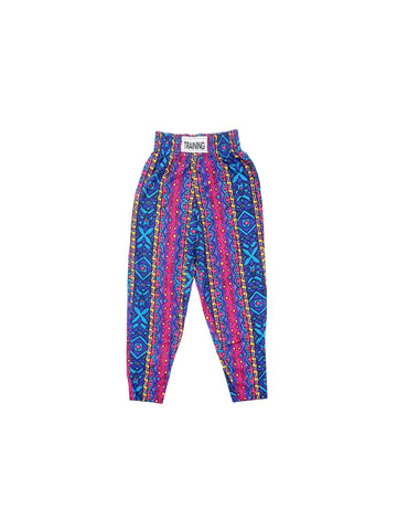 SOLD - Rad 80s Bold Tribal Aztec Workout Pants - 27 to 34