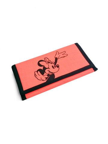 SOLD - Classic 80s Neon Orange Minnie Mouse Long Wallet