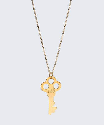 143 / BE Lariat Key Necklaces Necklaces The Giving Keys 143 Gold