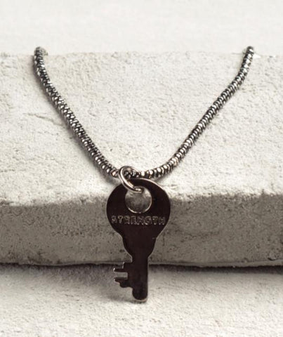 Precious Metal Necklace - Black Rhodium