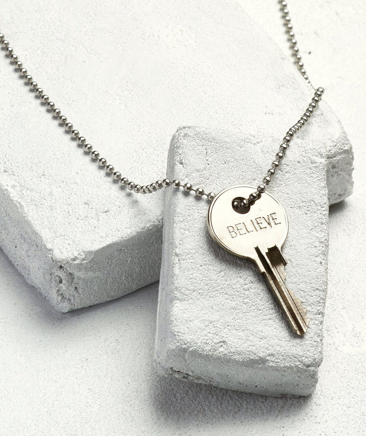 Gold Ball Chain Key Necklace Necklaces The Giving Keys