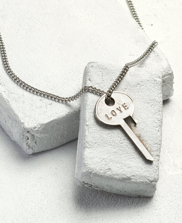 Silver Classic Key Necklace Necklaces The Giving Keys LOVE Silver