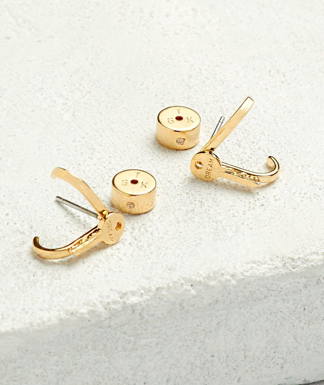 DREAM Mini Key Curl Earrings