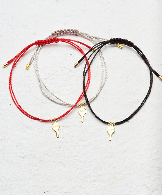 Gold Mini Key Color Strand Bracelet Set