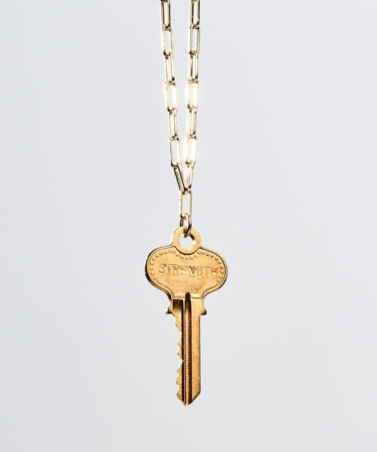 Brooklyn Classic Key Necklace Necklaces The Giving Keys STRENGTH Gold