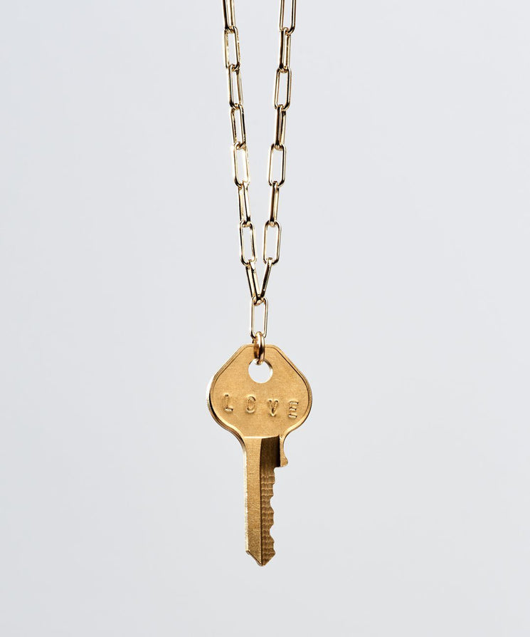 Brooklyn Classic Key Necklace Necklaces The Giving Keys LOVE Gold