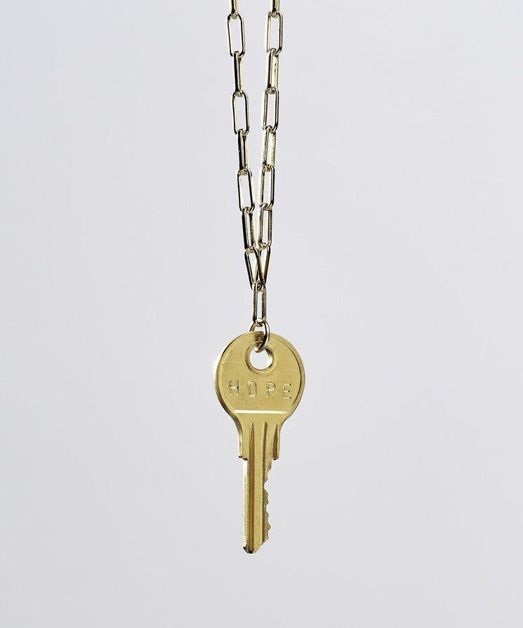 Brooklyn Classic Key Necklace Necklaces The Giving Keys HOPE Gold