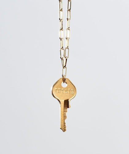 Brooklyn Classic Key Necklace Necklaces The Giving Keys CREATE Gold