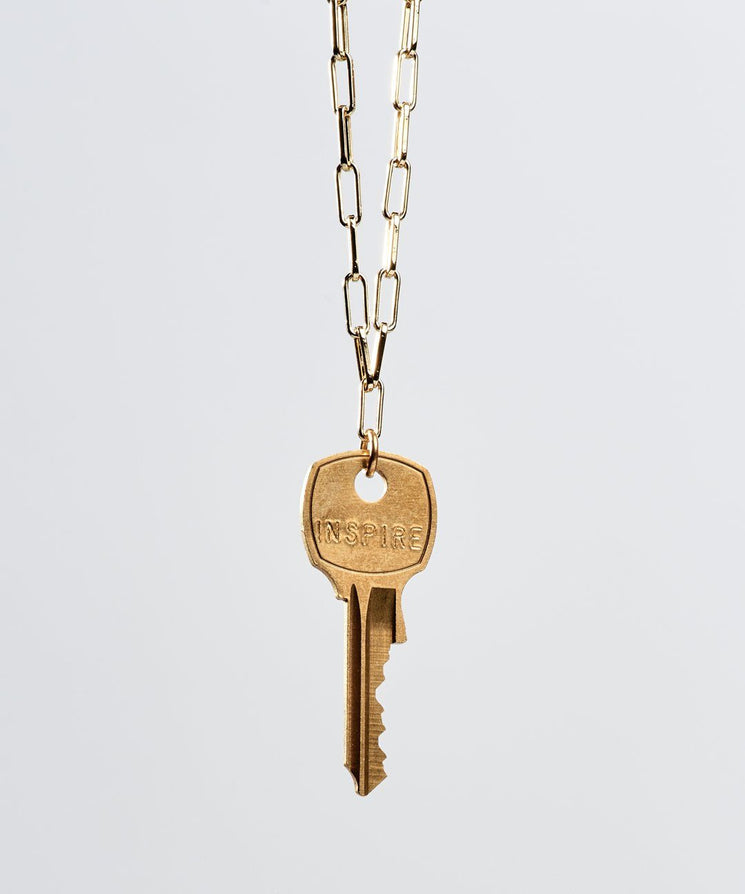Brooklyn Classic Key Necklace Necklaces The Giving Keys INSPIRE Gold