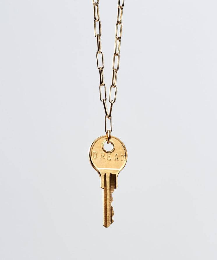 Brooklyn Classic Key Necklace Necklaces The Giving Keys DREAM Gold