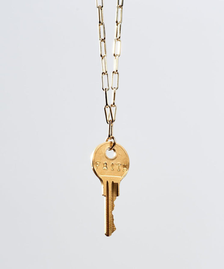 Brooklyn Classic Key Necklace Necklaces The Giving Keys FAITH Gold
