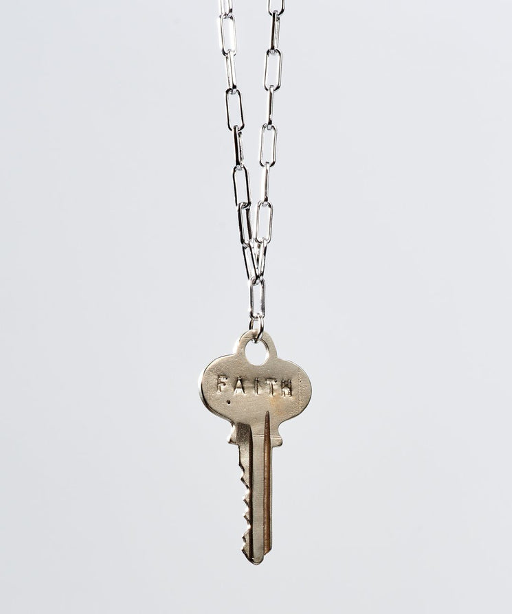 Brooklyn Classic Key Necklace Necklaces The Giving Keys FAITH Silver