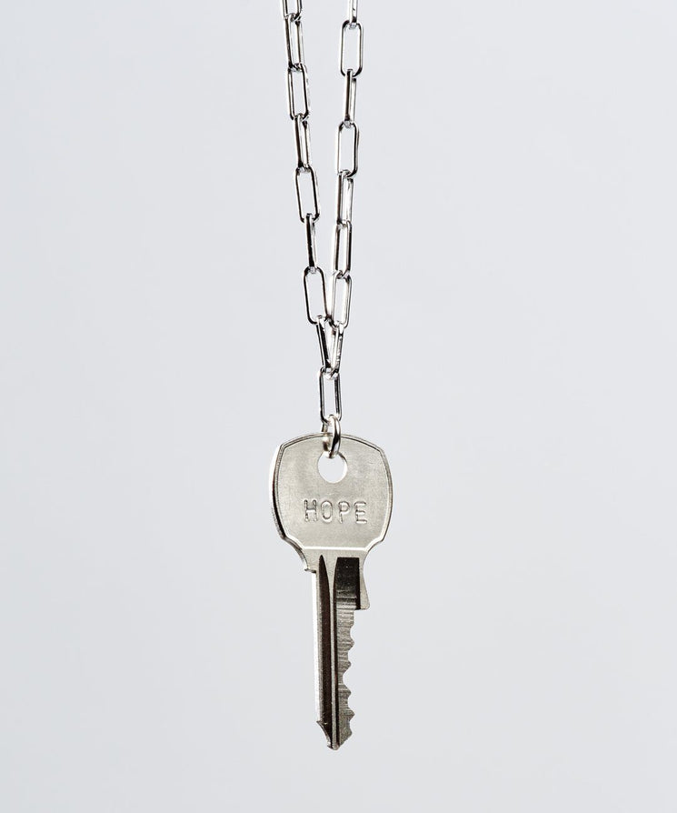 Brooklyn Classic Key Necklace Necklaces The Giving Keys HOPE Silver