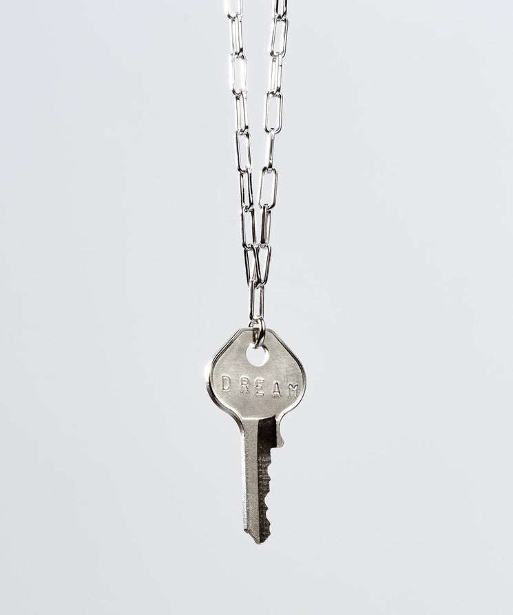 Brooklyn Classic Key Necklace Necklaces The Giving Keys DREAM Silver