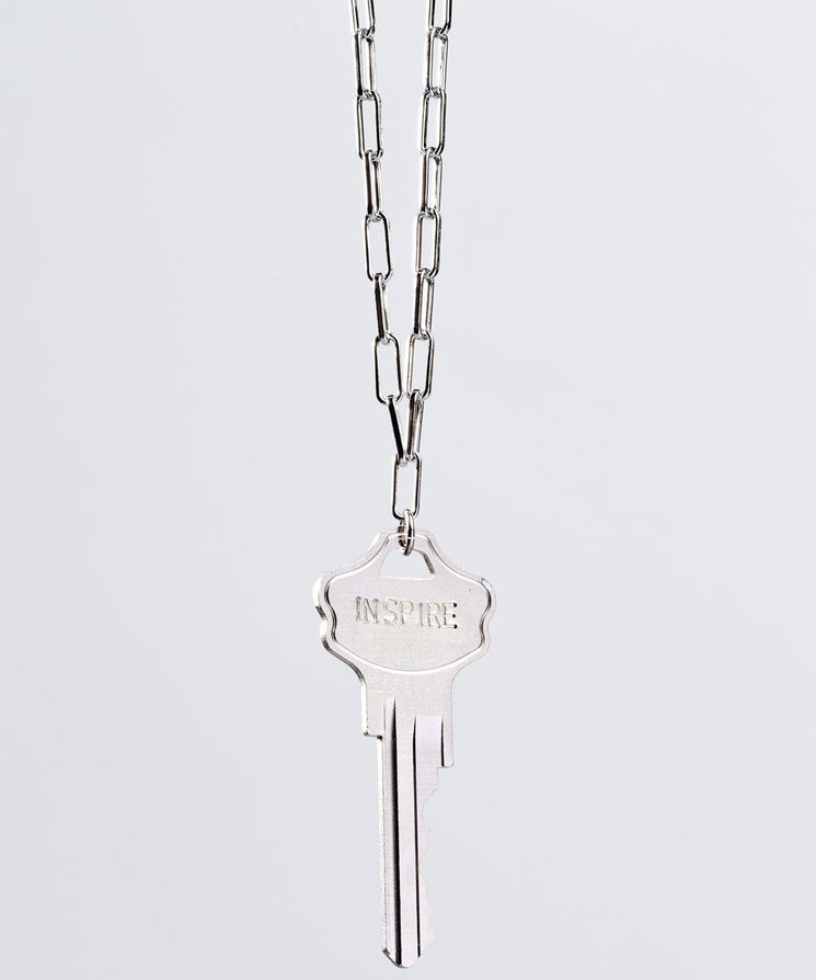 Brooklyn Classic Key Necklace Necklaces The Giving Keys INSPIRE Silver