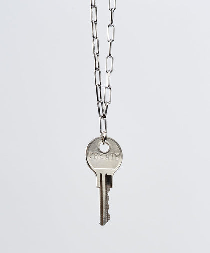 Brooklyn Classic Key Necklace Necklaces The Giving Keys CREATE Silver