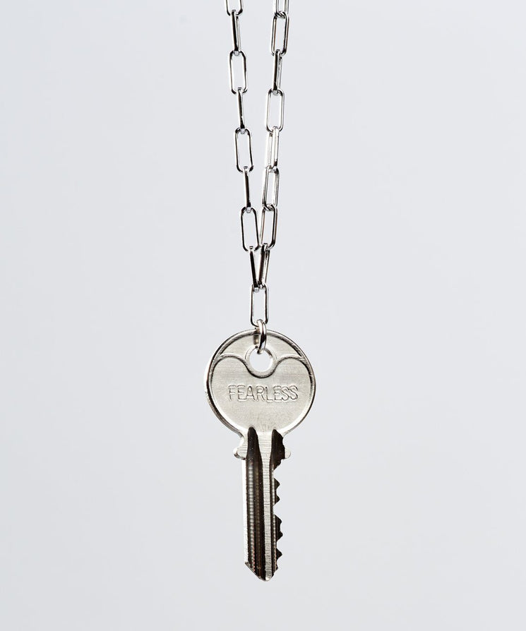 Brooklyn Classic Key Necklace Necklaces The Giving Keys FEARLESS Silver