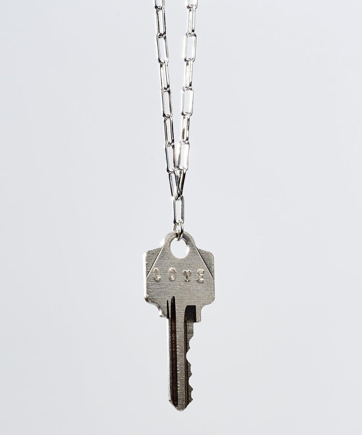 Brooklyn Classic Key Necklace Necklaces The Giving Keys LOVE Silver