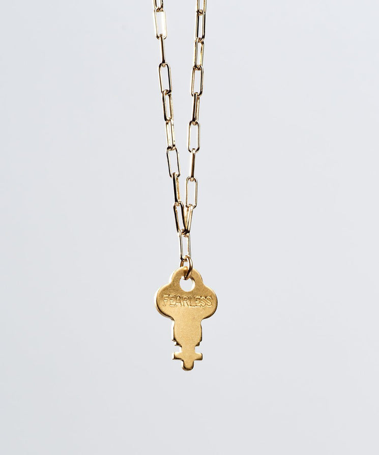 Brooklyn Dainty Key Necklace Necklaces The Giving Keys FEARLESS Gold