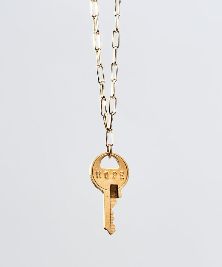 Brooklyn Dainty Key Necklace Necklaces The Giving Keys HOPE Gold