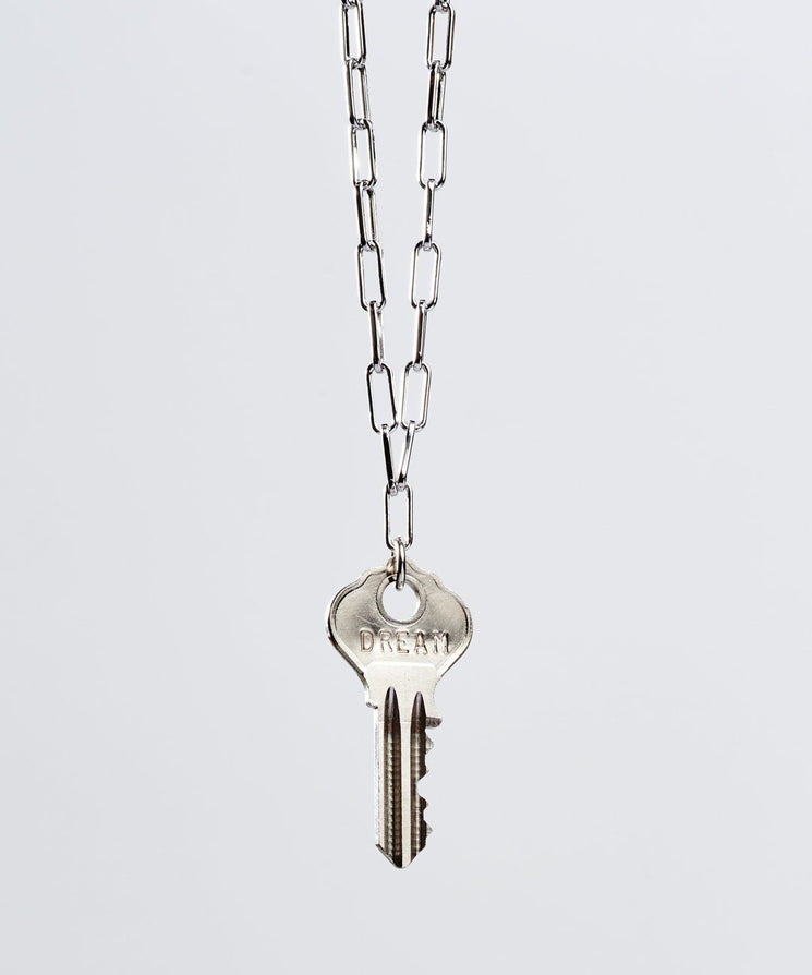 Brooklyn Dainty Key Necklace Necklaces The Giving Keys DREAM Silver