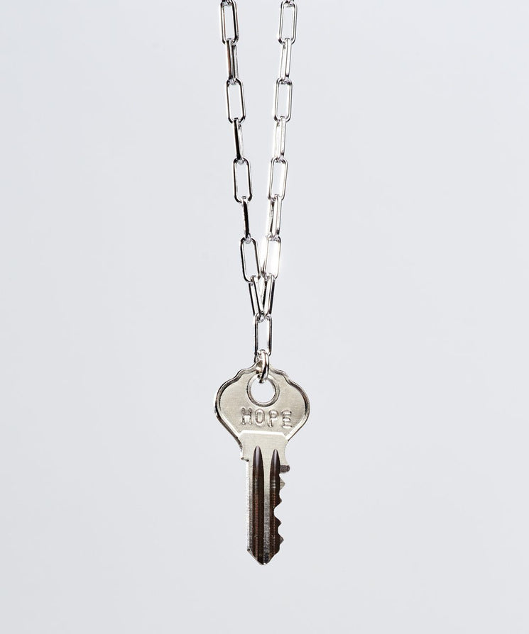 Brooklyn Dainty Key Necklace Necklaces The Giving Keys HOPE Silver